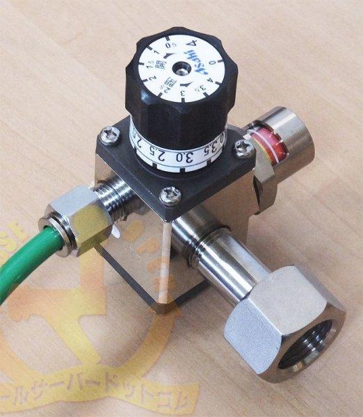 画像1: ガスボンベ用減圧弁 未使用品 (1)